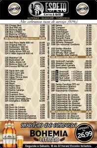 Cardápio de Restaurantes em Cartão de PVC